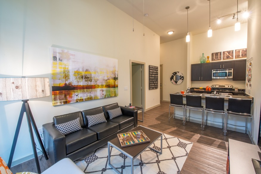 Apartment units at33 North are suite style.[photo: Paul Phillips]